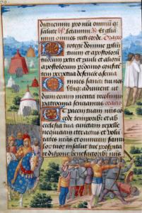 Heraclio entrando con la Vera Cruz en Jerusalén (página izquierda)