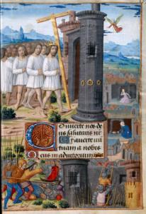 Heraclio entrando con la Vera Cruz en Jerusalén (página derecha)
