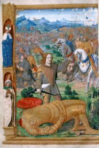 David vence a Goliat (página izquierda)