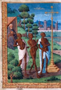 Tres vivos y tres muertos (página izquierda)